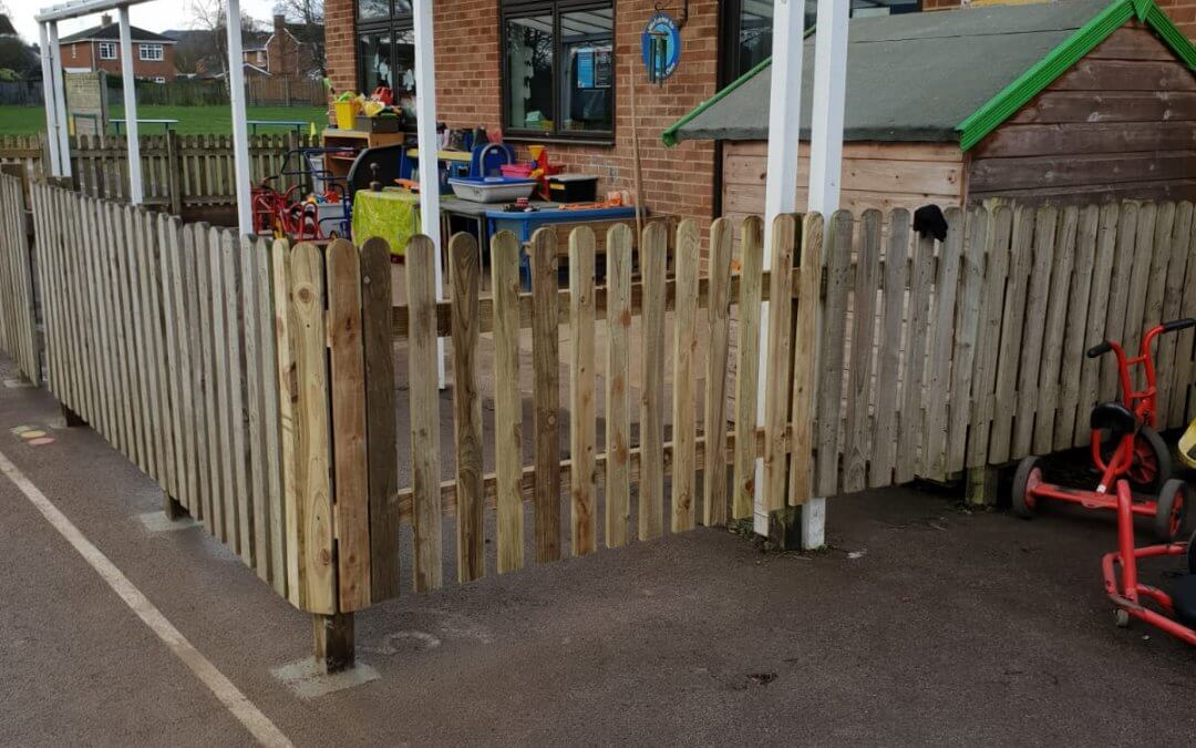 School fencing & playground extension
