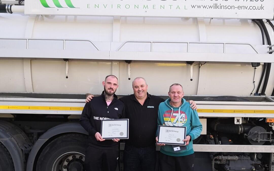 Drainage heroes – awarded for bravery